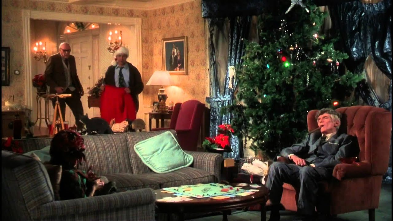 christmas vacation living room scene
