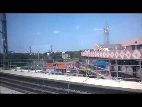 Chennai metro ride from Ekkaduthangal to Ashok Nagar