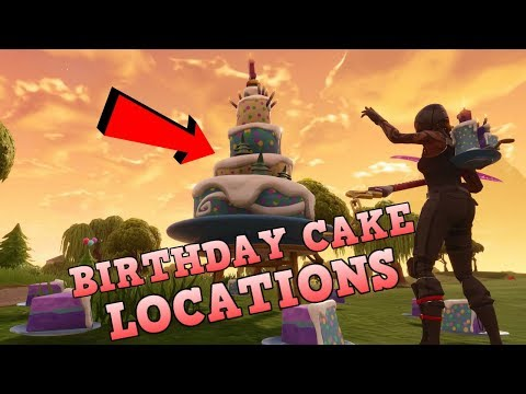 All 10 Fortnite Birthday Cake Locations | Very Easy Guide