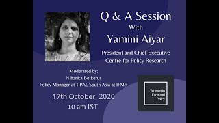 QnA with Yamini Aiyar, President and Chief Executive of Center for Policy Research