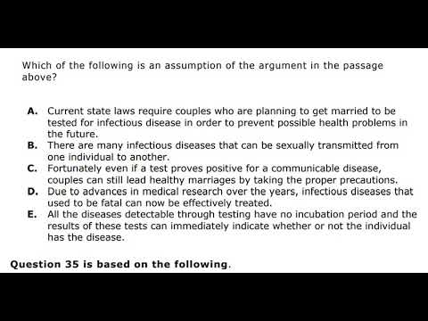 Logical reasoning, Assumption of the argument, How to answer in
