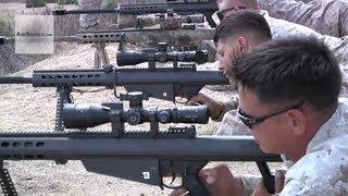 U.S. Marines - Barrett M82/M107 Sniper Rifle Live Fire Range
