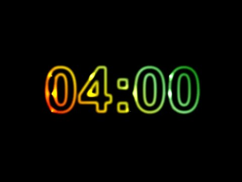 4 Minute Timer No Music with Alarm ⏰🔔 4 Minute Countdown Timer