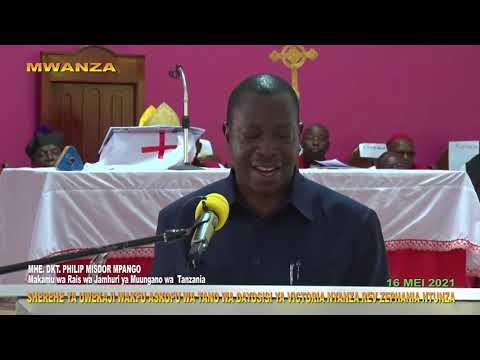 Download MAKAMU WA RAIS AMUWAKILISHA RAIS SAMIA KUWEKWA WAKFU ASKOFU NTUNZA MWANZA
