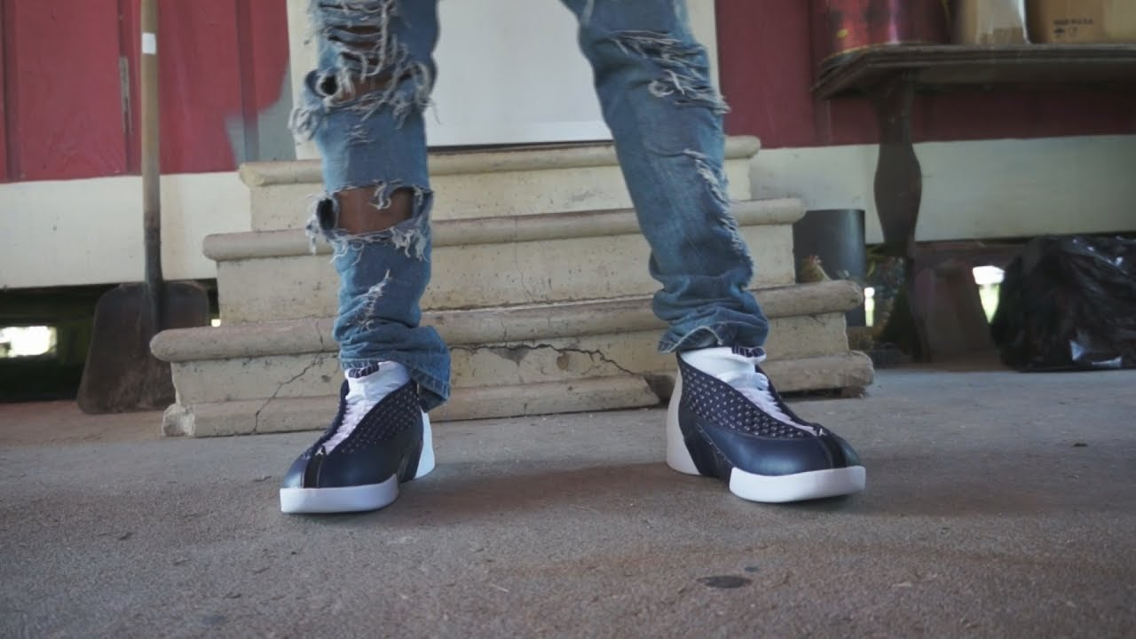 promo code 9249f d31df Jordan XV Midnight Navy ON FOOT