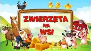 Zwierzęta na wsi film edukacyjny dla dzieci 👦