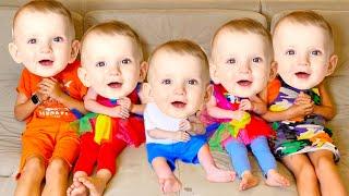 Five Kids Little Babies Masks Story