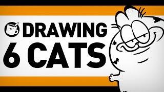 drawing-6-cats