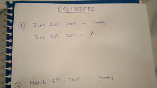 Calenders || remaining type questions thumbnail