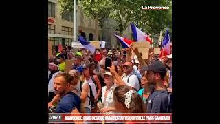 Marseille : la manifestation anti-pass rassemble près de 4300 personnes