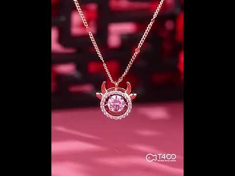 T400 x LSB - Year of the OX Floating Diamond Necklace