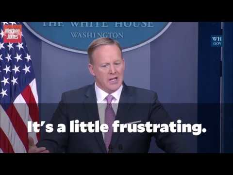 Sean Spicer Lashes Out at Press for Being Mean