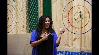 VIDEO: Boynton's new axe throwing bar a bullseye hit with residents