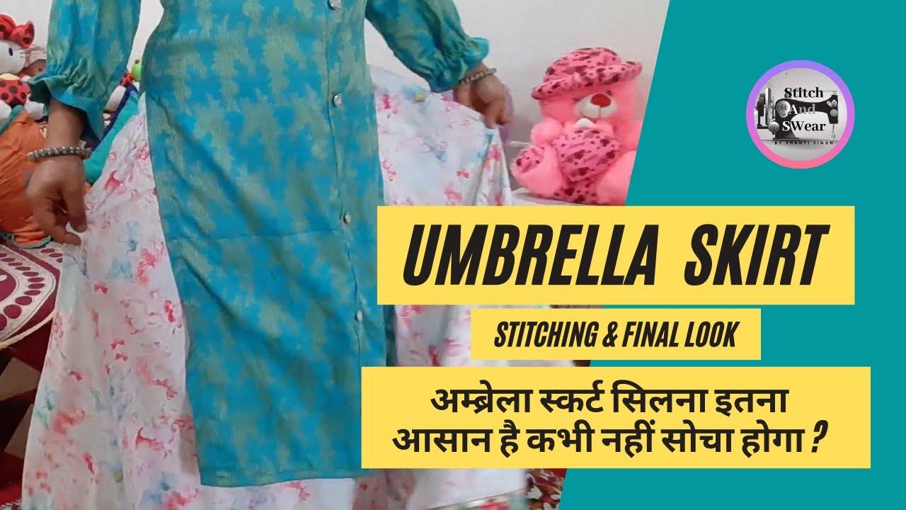 How to stitch Umbrella Skirt & Final look ll अम्ब्रेला स्कर्ट सिलने का सबसे आसान तरीका