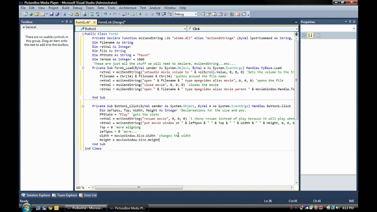 How To Make A Picturebox Media Player In Visual Basic