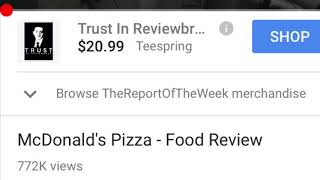 Reacting to McDonald's pizza food review