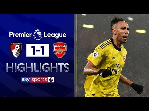 Aubameyang equaliser earns Arteta first point | Bournemouth 1-1 Arsenal | Premier League Highlights