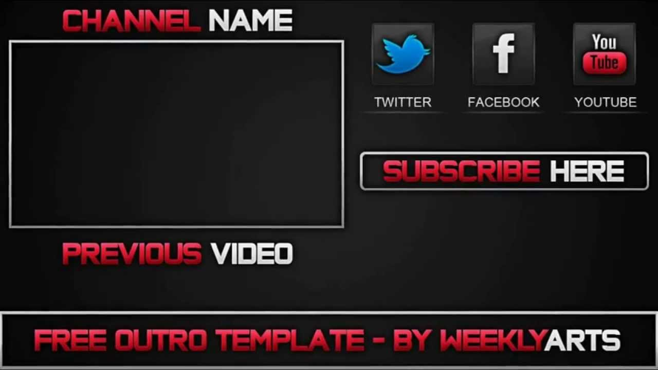Top 3 outros editables youtube for Cool outro