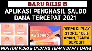 BARU BANGET! APLIKASI PENGHASIL SALDO DANA TERCEPAT 2021 // APK UANG TERBUKTI MEMBAYAR