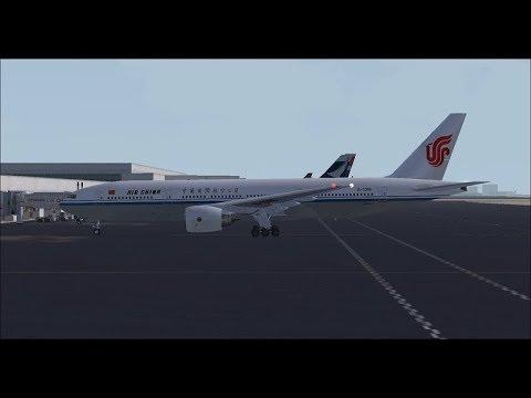 Beijing Intl (ZBAA) to Johannesburg Tambo Intl (FAOR) FSX Air China B777-200