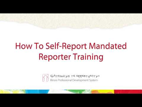 How To Self Report Mandated Reporter Training to the Registry ...