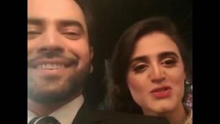 Junaid Khan And Hira Mani On The Set Of 'sun Yara'