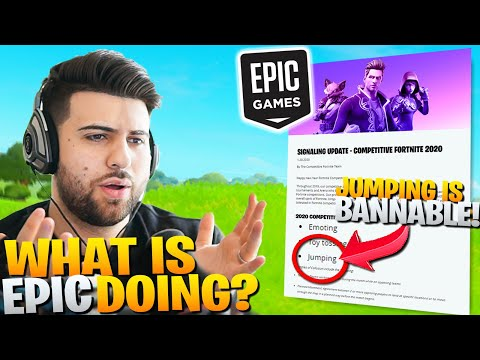 Epic Says JUMPING Can Get You BANNED?? (Competitive Blogpost Reaction) - Fortnite Battle Royale