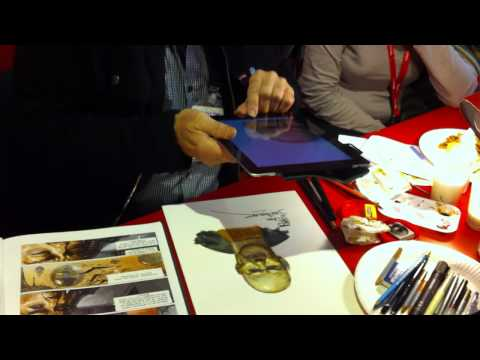 Juan Gimenez Sketches Metabaron at Angouleme 2012 Part 2 of 2