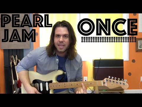 Guitar Lesson: How To Play Once  Pearl Jam !!! Stones Part