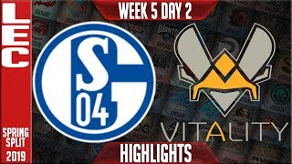S04 vs VIT Highlights | LEC Spring 2019 Week 5 Day 2 | Schalke 04 vs Vitality