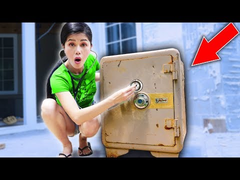 RIPPING OPEN ABANDONED SAFE vs SPY GADGETS and EXPLORING HAUNTED FOREST at SHARER FAM HOUSE
