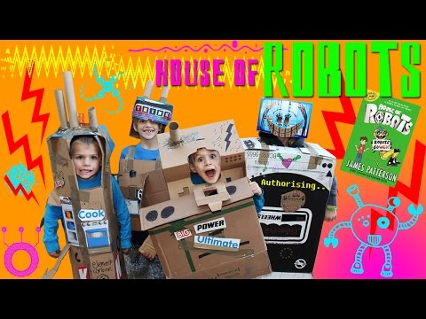House Of Robots -- Family Fun Pack Paper Box Robots!