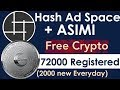 Hashing Ad space 72000 Members Registered. (2000 new Everyday).