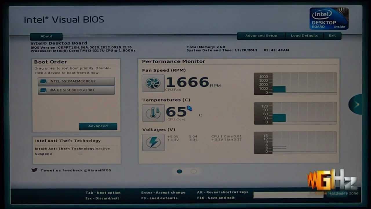 Intel NUC (Next Unit Of Computing) BIOS Features
