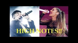 Male singers hitting female singers high notes