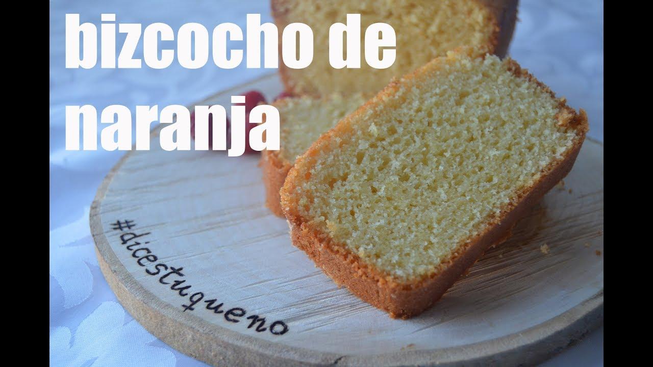 BIZCOCHO DE NARANJA, receta grabada con una GOPRO