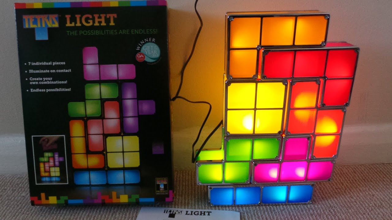 UNBOXING OF THE 7 PIECE MOVABLE TETRIS LIGHT ON AMAZON - YouTube