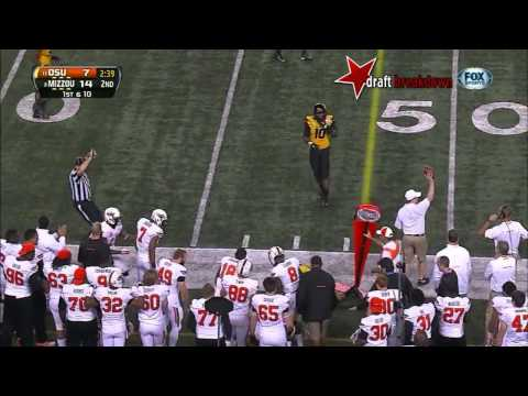 Kony Ealy (DE Missouri) vs Oklahoma State, 2014 Cotton Bowl