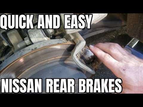How to Replace Rear Brake Pads Rotors 13-18 Nissan Altima