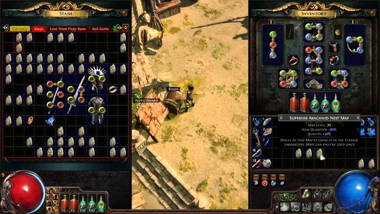 path of exile how to make map