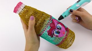 Pinkie Pie Chocolate Milk Bottle Drawing with 3D PEN ! My Little Pony Video for Kids