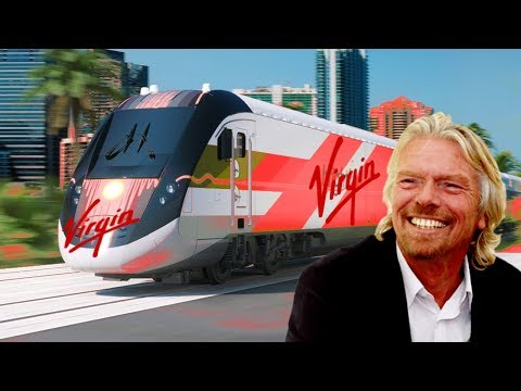 Brightline now VIRGIN TRAINS USA - Richard Branson in America