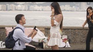 o pedido de casamento forte de copacabana