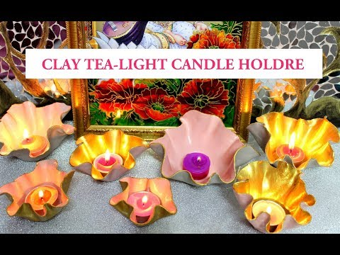 CLAY TEALIGHT CANDLE HOLDER