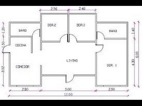Planos de casas con medidas youtube for Planos de casas con medidas