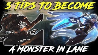5 TIPS FOR TRADING IN LANE! LEAGUE OF LEGENDS LANE GUIDE MID/TOP/BOT/SUPPORT Season 9