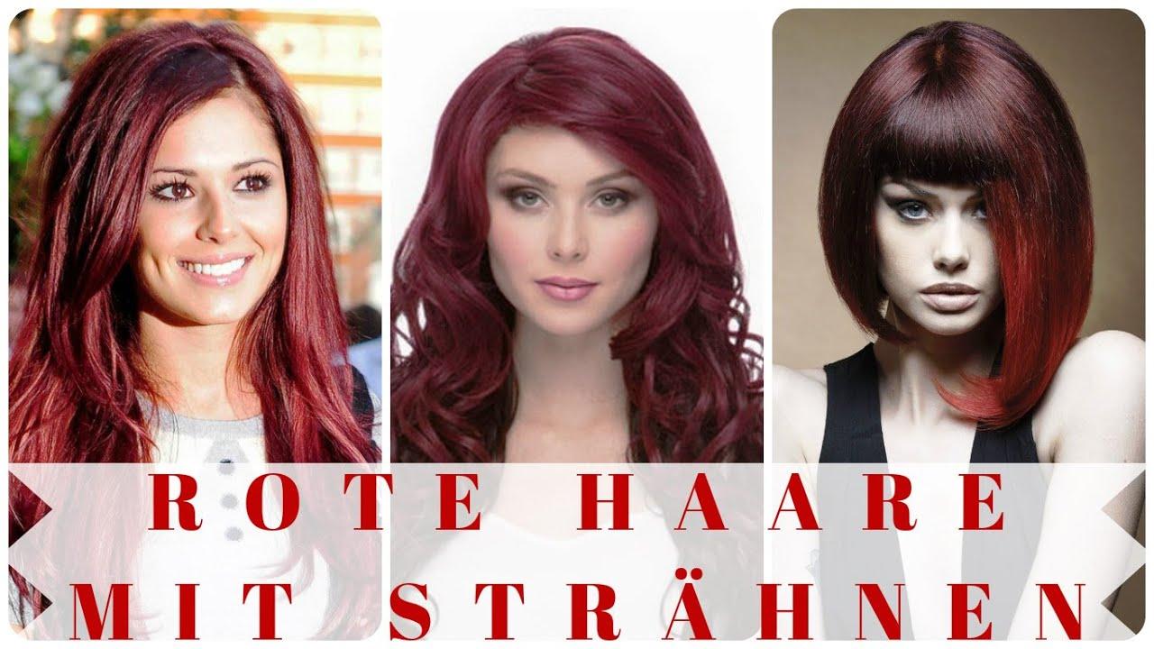 Rote Haare Mit Strähnen