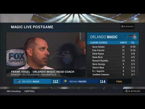 Frank Vogel -- Orlando Magic at Indiana Pacers 01/27/2018