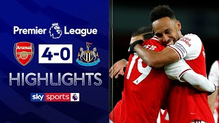 Pepe, Aubameyang, Ozil and Lacazette score in Gunners' rout | Arsenal 4-0 Newcastle | EPL Highlights