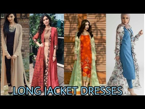 Latest Long Jacket Dresses For Girl A New Way For Girl Wear Kurti